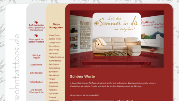 wandtattoos selber gestalten aber wo pinkies. Black Bedroom Furniture Sets. Home Design Ideas