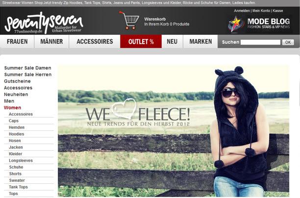 77onlineshop.de Neue Trends Herbst 2012