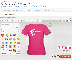Shirtbird T-Shirts online gestalten