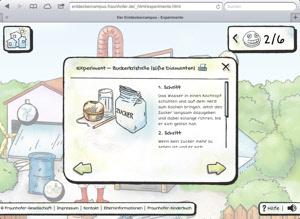 """Kinderwebseite """"Der Entdecker - Campus"""""""