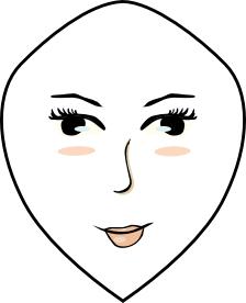 Gesichtsform diamanten