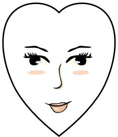 Gesichtsform herz