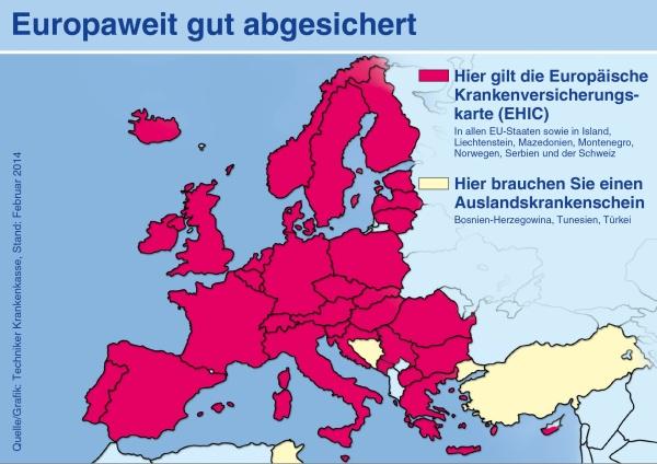 Europäische Krankenversicherungskarte (EHIC)