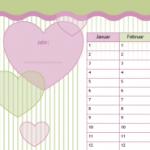Menstruationskalender – Candy Herz