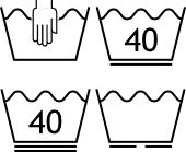 Pflegesymbol - Waschen - Details