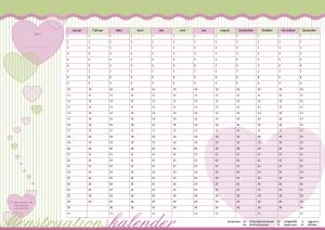 "Menstruationskalender Candy-Herz ""BonBons"""