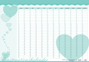 "Menstruationskalender Candy-Herz ""Turquis Kiss"""
