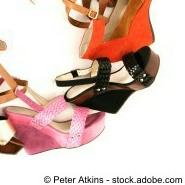Keilabsatz: Damenschuhe-Mode