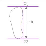 Fußlänge selber messen