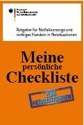 Bundesamt Notfall-Checkliste