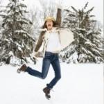 Winter-Spaß in Winterstiefel