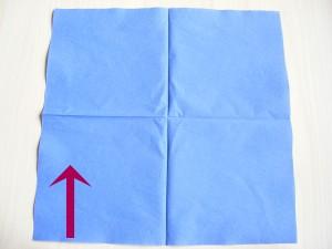 serviettenfalten-halb