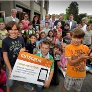 Die Gebrüder-Grimm-Schule in Moers gewann den vom Amazon Logistikzentrum Rheinberg initiierten Wettbewerb im Jahr 2013.