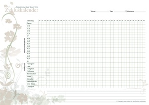 Zykluskalender Japanischer Garten Natur