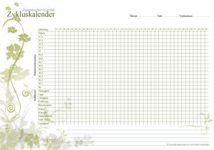 Zykluskalender Japanischer Garten Olive