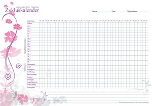 Zykluskalender Japanischer Garten Pink