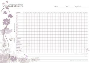 Zykluskalender Japanischer Garten Pink-Beige