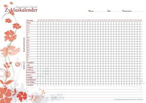 Zykluskalender Japanischer Garten Poppy-Rot