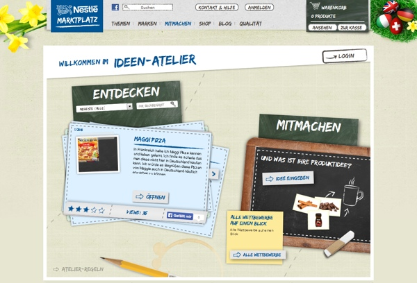 Nestlé-Marktplatz Ideenatelier