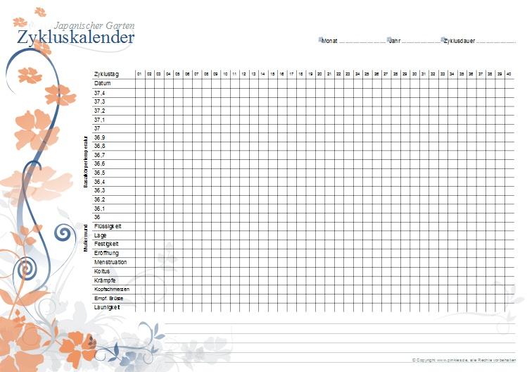 Zykluskalender japanischer Garten: Tangy-Blau