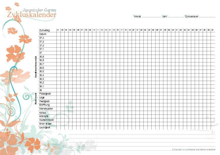 Zykluskalender japanischer Garten: Tangy-Grün