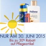 Tolle Gelegenheit: 30% auf Pflegeartikel wie Sonnenschutzmittel
