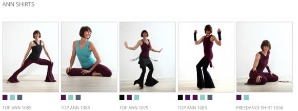 Screenshot nipala Online Shop: Ann Christiansen Sportswear Kollektion