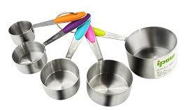 Edelstahl Messbecher Set mit amerikanischen Maßeinheiten (Cups)
