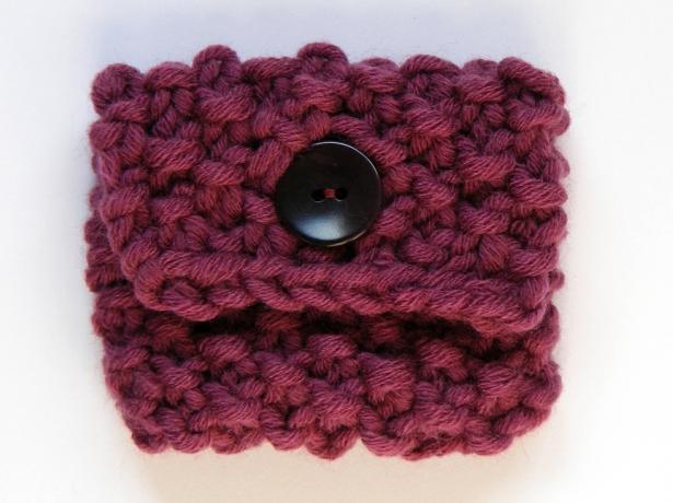 Tampontasche selber stricken mit Wolle