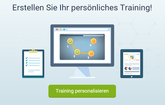 Persönlichen Trainingsplan für dein Gehirnjogging zusammenstellen (Screenshot Neuronation Webseite)