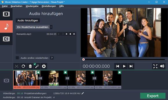 movavi slideshow Creator - wie aus deinen Fotos ein kleines Video wird