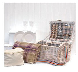 Fine Food Store Picknickkorb im angesagten Shabby Chic Style