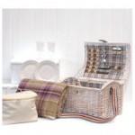 Shabby Chic Style Picknickkorb für ein romantisches Picknick