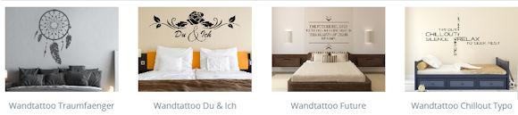 Wandtattoos für Schlafzimmer