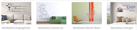 Wandtattoos fürs Wohnzimmer