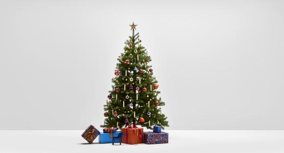 Boho Treasuries - Weihnachtsbaum Komplettset mit künstlichen Weihnachtsbaum und dazu passender Dekoration