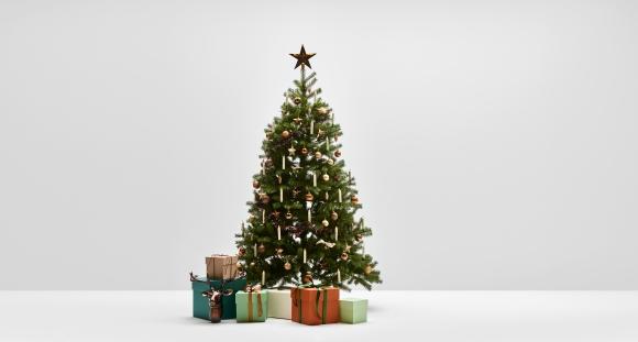 Enchanted Forest: Weihnachtsbaum Komplettset mit künstlichen Weihnachtsbaum und dazu passender Dekoration