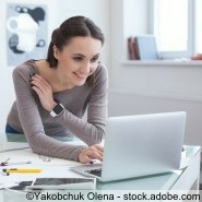 Frauen Geschäft zuhause