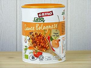 Gefro BIO Sauce Bolognese : ideal als Fleichersatz oder für Vegetarier und Veganer