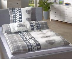 Micro-Fleece-Bettwäsche Herzen Dänisches Bettenlager
