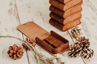Gravierte USB-Box mit Holz
