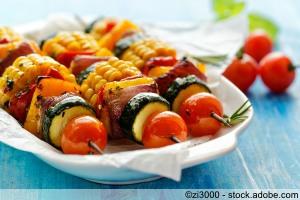 Gegrilltes vegetarisches Gemüse