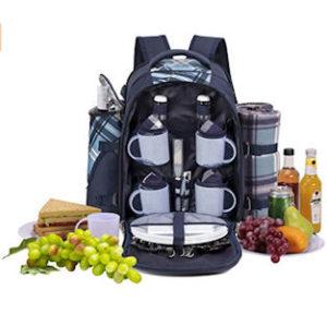 apollo walker picknick rucksack mit fleece decke und kühlfach