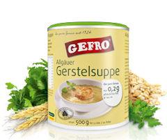 Spezialität GEFRO Allgäuer Gerstelsuppe