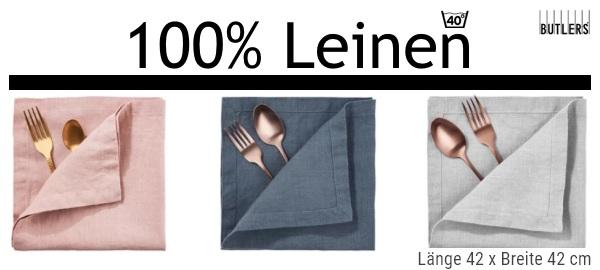 Servietten aus 100% Leinen