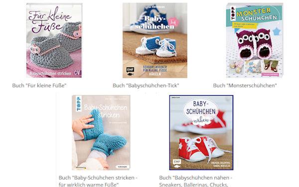 Babyschuhe selber strickeln, häkeln und nähen - Bücher zum Thema bei Buttinette