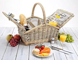 Picknickkorb 2 Personen von WOMA - für das romantische Picknick zu Zweit