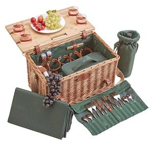 Luxus Picknickkorb mit Tisch