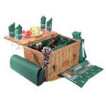 Picknickkorb mit eingeklappten Tisch: Saint-Honoré Leder