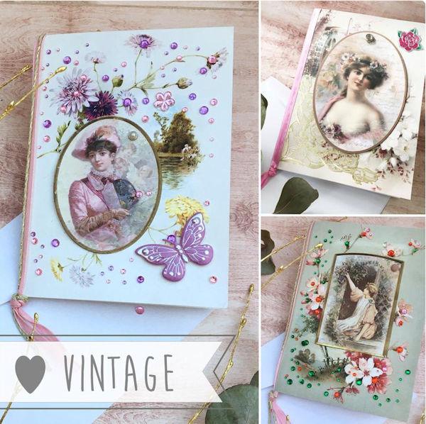 Handgefertigte Grußkarten im viktorianischen Stil im Etsy Shop von MadameLaCarte